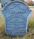 Image for ZINC-SIBLINGS JAMES AND MARY PERCY - Browning's Cemetery - Lavant ON