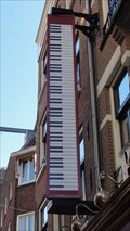 Image for Piano Keyboard on Wall of Piano Bar – Amsterdam, Netherlands