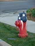 Image for American Flag Fire hydrant - Centerville