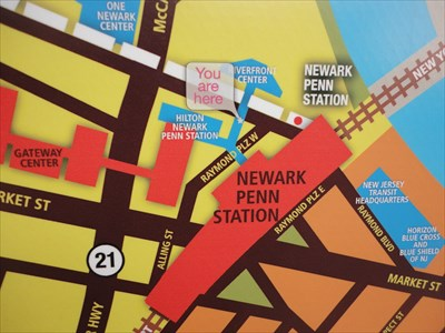 Newark Penn Station Map YAH @ Newark Penn Station   Newark, NJ   'You Are Here' Maps on  Newark Penn Station Map
