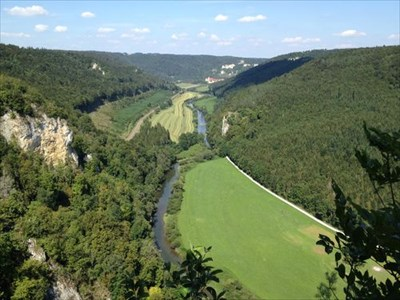 virw from the platform to Danube valley