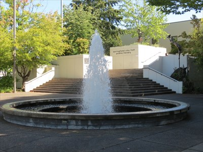 Fountain in front of City Hall, Springfield, Oregon