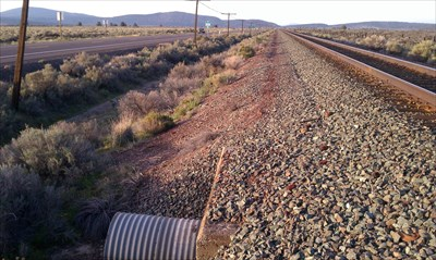 View of AZ mark looking north towards the MEISS station mark