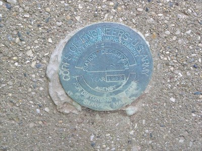 Close up view of the gaging station disc.
