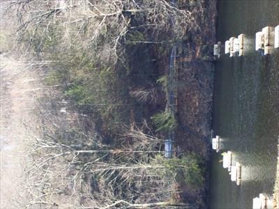 Near the bridge over the runnoff.