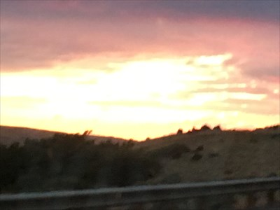 Sunset along Snake River as we drove to the FLW Teeter Studio.