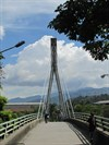 Cable Stay Bridge, Looking S, Medellin, Colombia