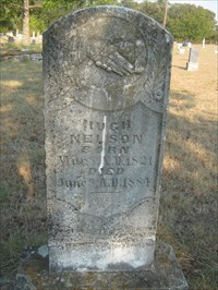 Hugh Nelson, who donated the land for this cemetery.