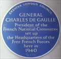 Image for Charles de Gaulle - Carlton Gardens, London, UK
