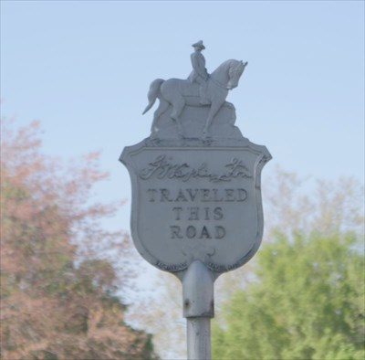 G Washington Traveled This Road historical marker in Havre de Grace, Harford County, Maryland