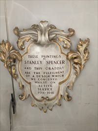 Paintings of Stanley Spencer, Burghclere, Newbury, Hampshire, England