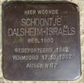 Image for Stolpersteine Schoontje Dalsheim-Israëls - Valthermond NL