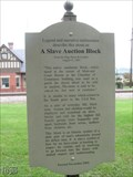 Image for A Slave Auction Block - Luray VA