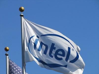 Intel Corporation Flag, Another View, Santa Clara, CA