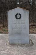Image for El Camino Real de los Tejas -- First Site of San Marcos, Hays Co. TX