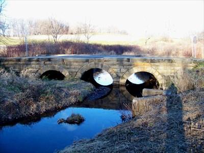Old Triple Arch Stone Bridge - #1