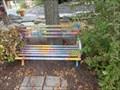 Image for Pastel Bench - Story Garden, Binghamton, NY