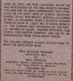 Historic Route 66 - Will Rogers Highway