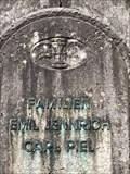 Image for geflügelte Sanduhr - Grabmahl Familien Emil Jennrich und Carl Piel - Ohlsdorfer Friedhof - Hamburg, Germany