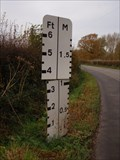 Image for Roadside River Gauge, Barcombe, Sussex, UK.