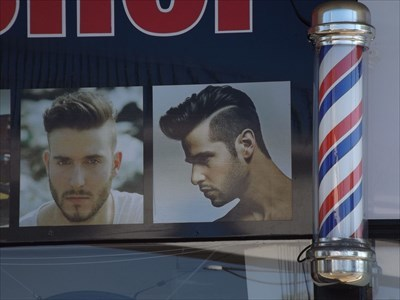 Close up of the single rotating Barber