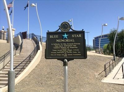 Tempe Beach Park Blue Star Memorial Highway Marker Tempe