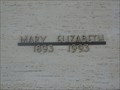 Image for 100 - Mary Elizabeth Hackett - Resthaven Gardens Cemetery - OKC, OK