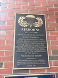 Image for Airborne Memorial Plaque - Buffalo, NY