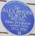 Image for Alexander Korda - Grosvenor Street, London, UK