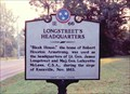 Image for Longstreet's Headquarters-1E 66-Knoxville
