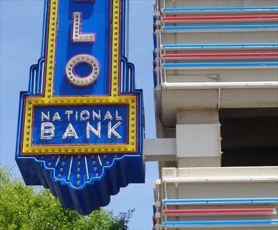 Route 66 - Neon - Amarillo National Bank, TX.