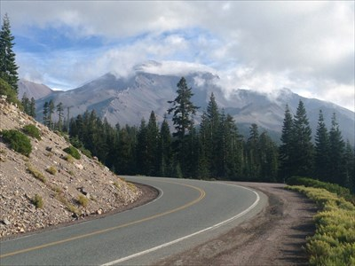 View from a Bend in the Highway, Mt Shasta, California