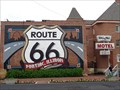 Image for Gigantic Route 66 Highway Shield - Pontiac, Illinois, USA.