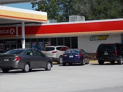 This image is of right side of Circle-K building. The Subway is actually on other end.