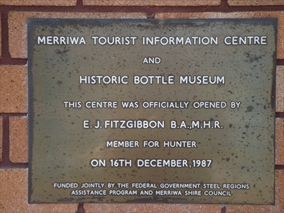 The plaque for the Opening of the Information Centre.0804, Friday, 21 September, 2018