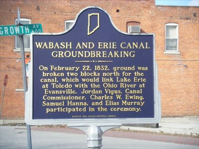 Wabash And Erie C Groundbreaking Indiana Historical Markers On Waymarking Com