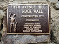 Image for Fifth Avenue Hill Rock Wall - 1957 - Trail, BC