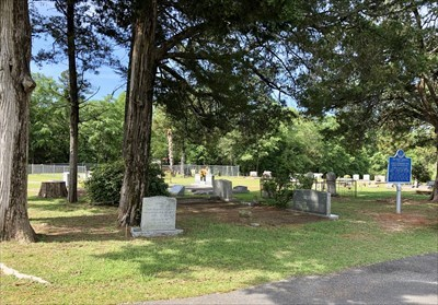 Marker in the Ebenezer Baptist Church Cemetery.