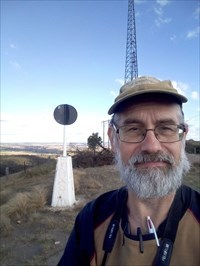 Grahame Cookie at the Trig. 1442, Sunday, 2 June, 2019