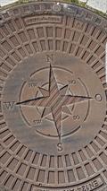 Image for Compass Rose at manhole cover - Sierksdorf/ Schleswig-Holstein/ Deutschland
