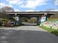 Image for les graffitis du pont ferroviaire - Plouisy, Bretagne, France