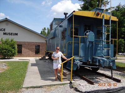 Me and the Blue Caboose at the museum here in Manchester, Tn