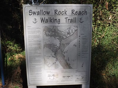 The information sign and map.