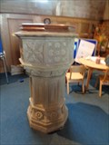 Image for Baptismal Font - St Mary the Virgin Church, Ross on Wye, Herefordshire, UK.