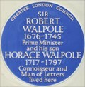 Image for Sir Robert Walpole and Horace Walpole - Arlington Street, London UK