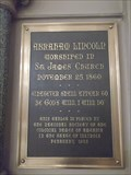 Image for St. James Episcopal Church Lincoln plaque - Chicago, IL