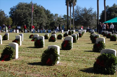 added a photo of the wreaths across America.  This is in the military portion of the cemetery.