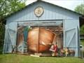 Image for Andress Boat Works Garage Door Art - Rockport, Ontario