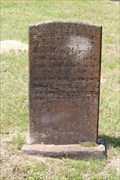Image for FIRST Recorded Interment in Red Hill Cemetery - Murchison, TX