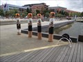 Image for Geelong Baths Swimming Club Bollards - Geelong Waterfront, Victoria, AU